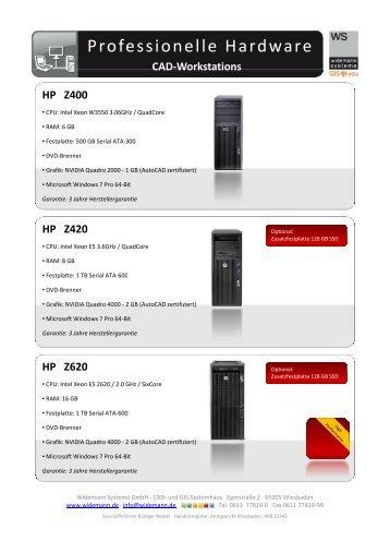 Professionelle Hardware - Widemann Systeme GmbH