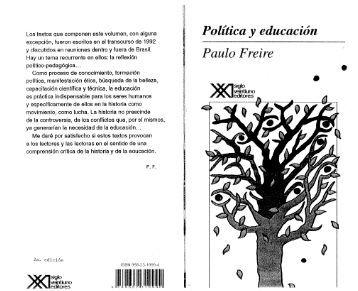 Politica y Educacion - Paulo Freire - ESCUELAS POPULARES