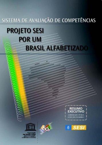 Sistema de avaliação de competências: Projeto ... - unesdoc - Unesco