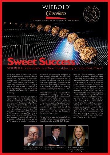 excellence in premium truffles & chocolates - Wiebold Confiserie