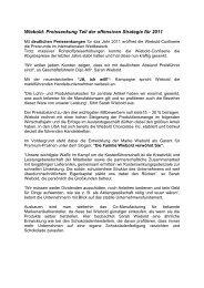 Wiebold: Preissenkung Teil der offensiven Strategie für 2011