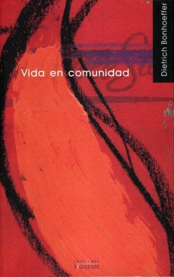 Dietrich Bonhoeffer VIDA EN COMUNIDAD - Centro de Estudio ...