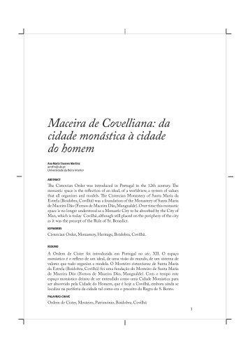 Maceira de Covelliana: da cidade monástica à cidade ... - UBImuseum