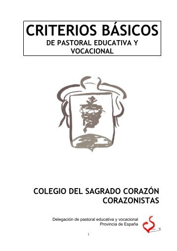 CRITERIOS BÁSICOS DE PASTORAL educativa y vocacional