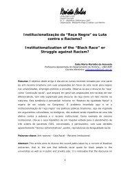 """Institucionalização da """"Raça Negra"""" ou Luta contra o ... - Unicamp"""