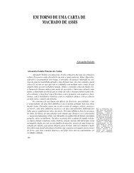 em torno de uma carta de machado de assis - Revista Novos Estudos