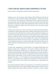 I CENTO ANNI DEL SINDACALISMO CONFEDERALE ITALIANO - Uil