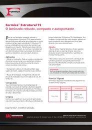 Formica® Estrutural TS O laminado robusto, compacto e autoportante