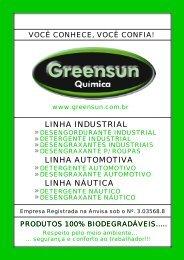 Clique aqui e baixe o Catálogo de Produtos da Greensun em PDF