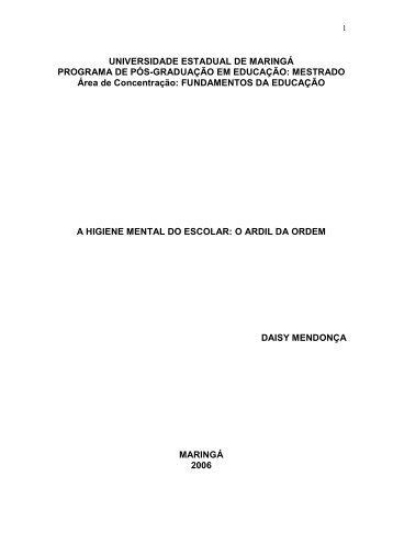 Dissertação - Programa de Pós-graduação em Educação / UEM