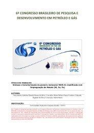 5º congresso brasileiro de pesquisa e desenvolvimento em ... - ABPG