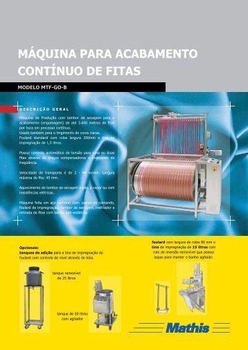 MTF-GO - MATHIS Aparelhos de Laboratório Mathis Ltda