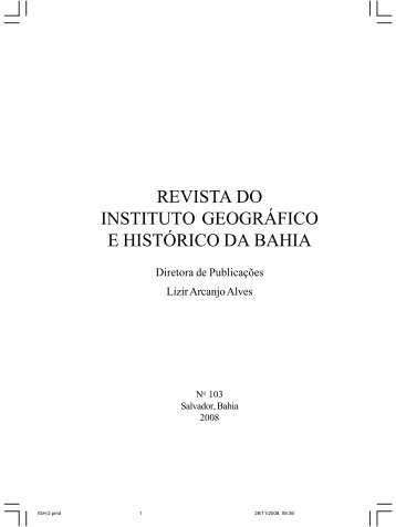 revista do instituto geográfico e histórico da bahia - IGHB