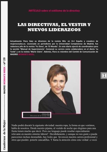 Cuadernos de la Mujer – nº 20 (pdf) - Madrid Woman´s Week