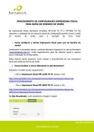 procedimento de configuração impressora fiscal para ... - Bematech