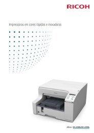 Impressoras em cores rápidas e inovadoras