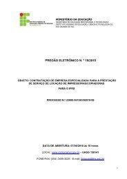 Pregão Eletrônico 18-2010 - Locação de impressoras para o IFRS