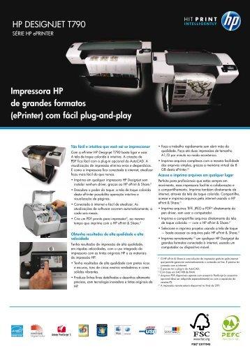 HP DESIGNJET T790 Impressora HP de grandes ... - Microware