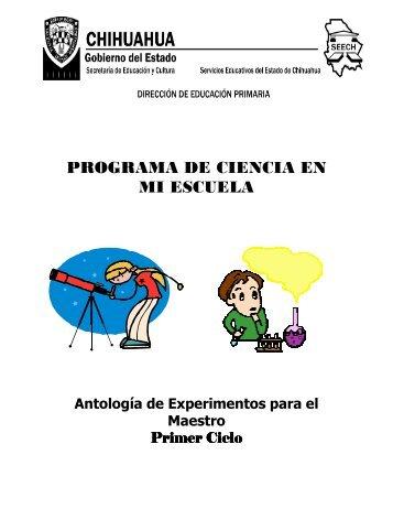 programa de ciencia en mi escuela - Dirección de Educación Primaria