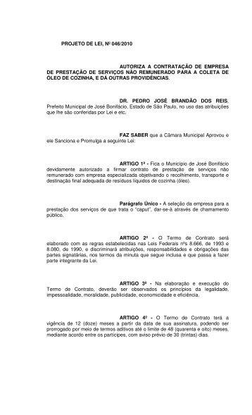 Acesse o documento - Câmara Municipal de José Bonifácio