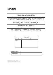 MANUAL DO USUÁRIO INSTRUÇÕES DE OPERAÇÃO PARA ...