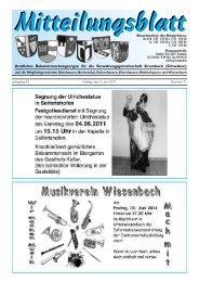 Jahrgang 33 Freitag, den 3. Juni 2011 Nummer 11 - Wiesenbach