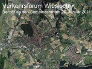 Ergebnis Verkehrsforum, Präsentation im Gemeinderat [5 ... - Wiesloch