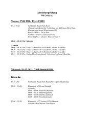 Abschlussprüfung WS 2011/12
