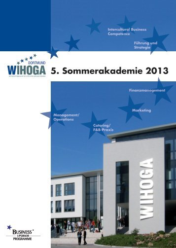 WIHOGA Sommerakademie 2013 - WIHOGA Dortmund