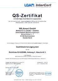 Qualitätszertifikat Richtlinie 93-42, Anhang II (PDF) - WILAmed