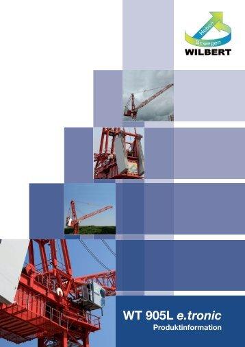 Download Broschüre WT 905L e.tronic - Wilbert Kranservice GmbH