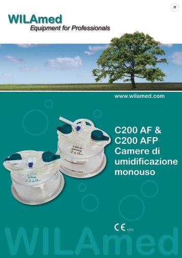 C200 AF & C200 AFP Camere  di umidificazione monouso - WILAmed