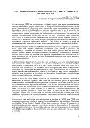 Texto de Referência do Campo Agroecológico para a - AS-PTA