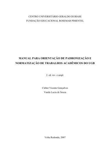 Manual de Trabalhos Acadêmicos - UGB
