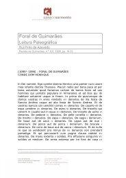 Foral de Guimarães - Casa de Sarmento