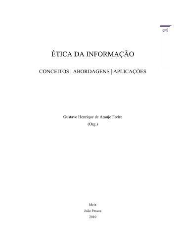 ética da informação - Repositório Aberto da Universidade do Porto