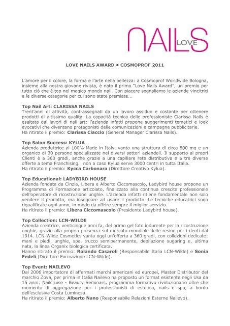 love nails award • cosmoprof 2011 - Wilde Cosmetics GmbH