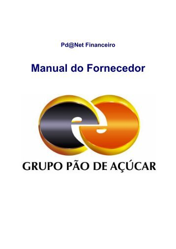 Manual do Fornecedor