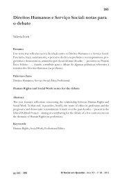 Direitos Humanos e Serviço Social: notas para o debate