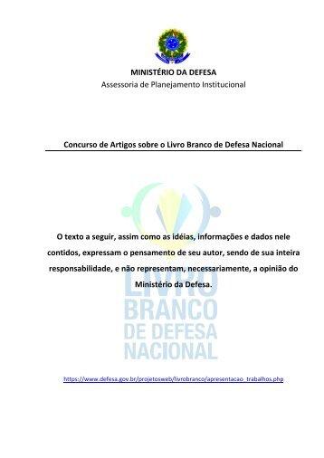 Artigo Jose Carlos de Araujo - Ministério da Defesa..