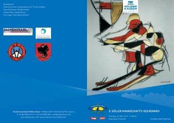 9. Mannschafts-Seilrennen in Söll am 16. März 2013 - Wilder Kaiser