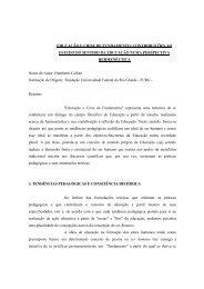EDUCAÇÃO E CRISE DE FUNDAMENTO: CONTRIBUIÇÕES AO ...