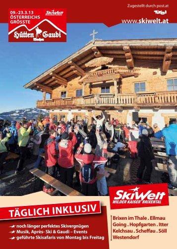 Programm Hüttengaudi - Wilder Kaiser