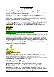 Programm der Bergsportwoche vom 15.-22. Juni 2013 - Wilder Kaiser