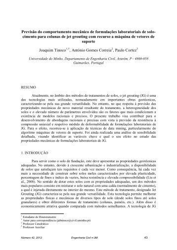 Previsão do comportamento mecânico de formulações laboratoriais ...