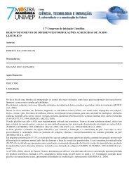desenvolvimento de diferentes formulações acrescidas de ... - Unimep