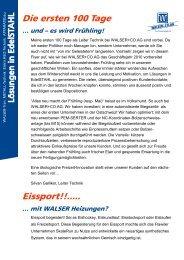 Die ersten 100 Tage Eissport!!..... - Walser + Co. AG