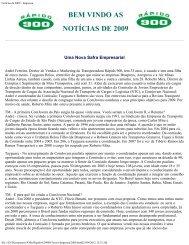 Notícias de 2010 - Imprensa - Rápido 900 Transporte e Logística