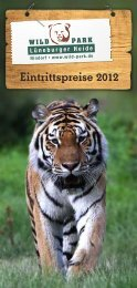 Eintritspreise als Flyer zum Download - Wildpark - Lüneburger Heide
