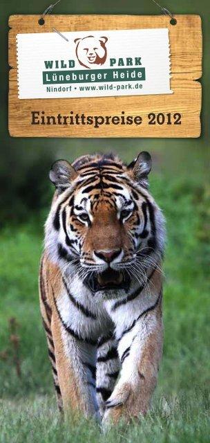 Eintritspreise als Flyer zum Download - Wildpark - Lüneburger Heide